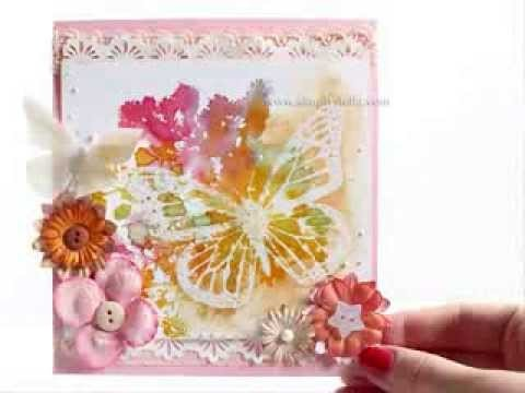 DIY Card tutorial: Acquerello con Distress Inks