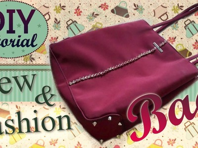 DIY ReFashion Bag - ✂ - Tutorial: Come Personalizzare una vecchia Borsa