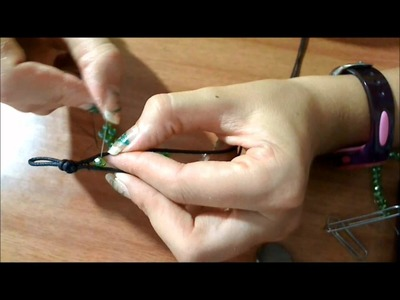 DIY-tutorial bracciale simil chan luu parte 2-calcolare la lunghezza del cotone cerato e le perline