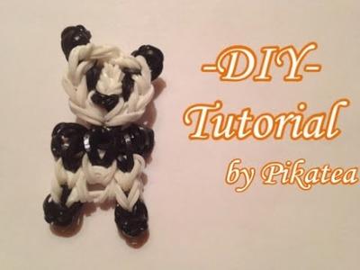 DIY Tutorial ● PANDA con gli elastici ● Rainbow loom {ITALIANO} | Pikatea