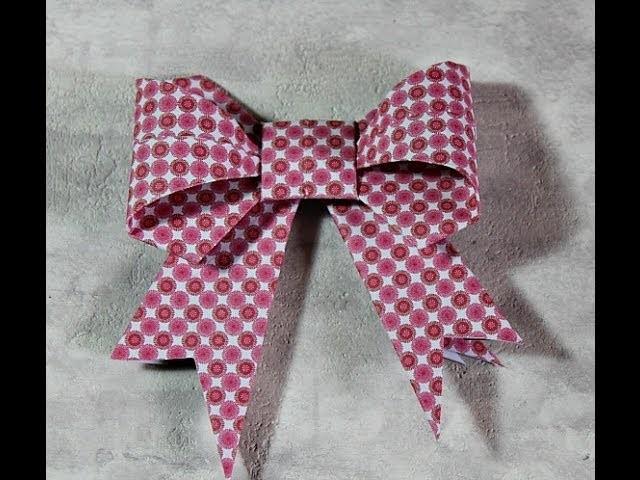 Fiocchi origami Tutorial - Paper Bow Origami