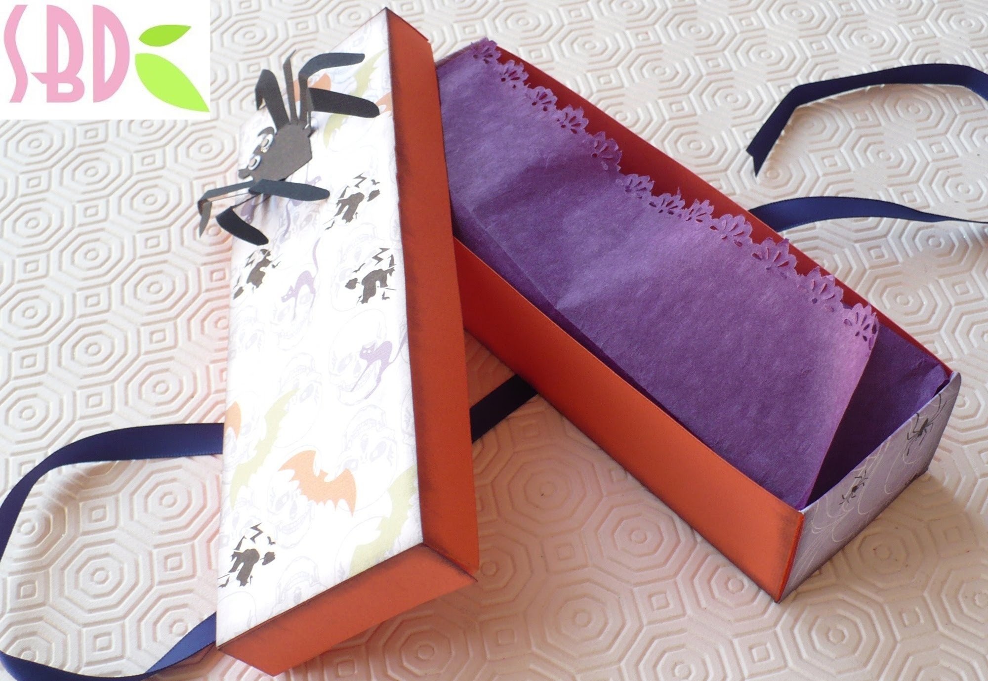 Halloween Series:Scrapbooking tutorial Scatolina Spider - Spider box
