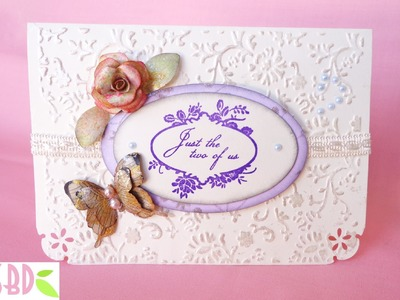 Scrapbooking: Card Matrimonio con tasca - Wedding card