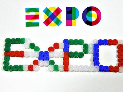 Scritta Expo con Pyssla - Hama Beads Tutorial ♡