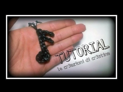 Tutorial Charm Nota Musicale con Elastici RAINBOW LOOM - DIY Music Note