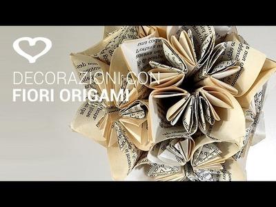Tutorial: Come realizzare una decorazione con fiori origami - La Figurina
