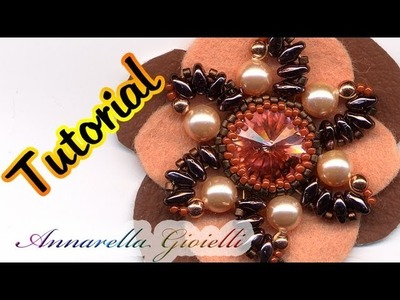 "Tutorial peyote | Ciondolo fiore ""Axo"" con twin beads"