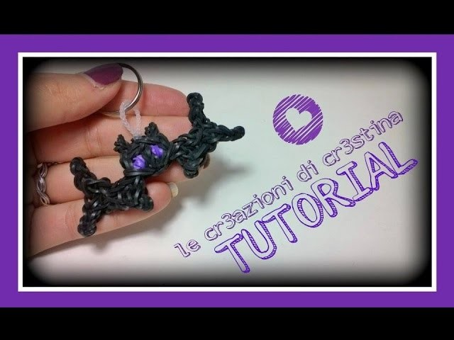 Tutorial Pipistrello con Elastici RAINBOW LOOM - DIY Halloween Bat Charm