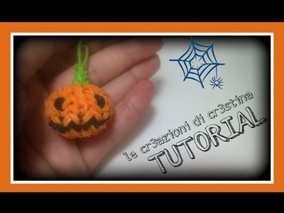Tutorial Zucca 3D con Elastici RAINBOW LOOM - DIY Halloween Pumpkin Charm