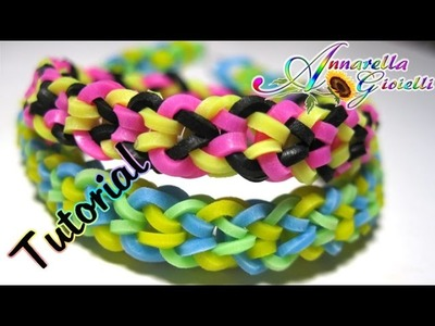 "Tutorial Braccialetti con elastici ""Inverted fishtail"" SENZA telaio | DIY Raimbow loom bracelet"