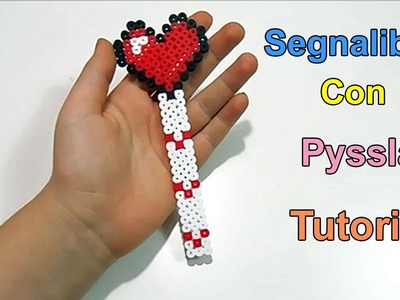 "Tutorial Segnalibro Con Pyssla ""Bookmark Hama Beads ""❤"
