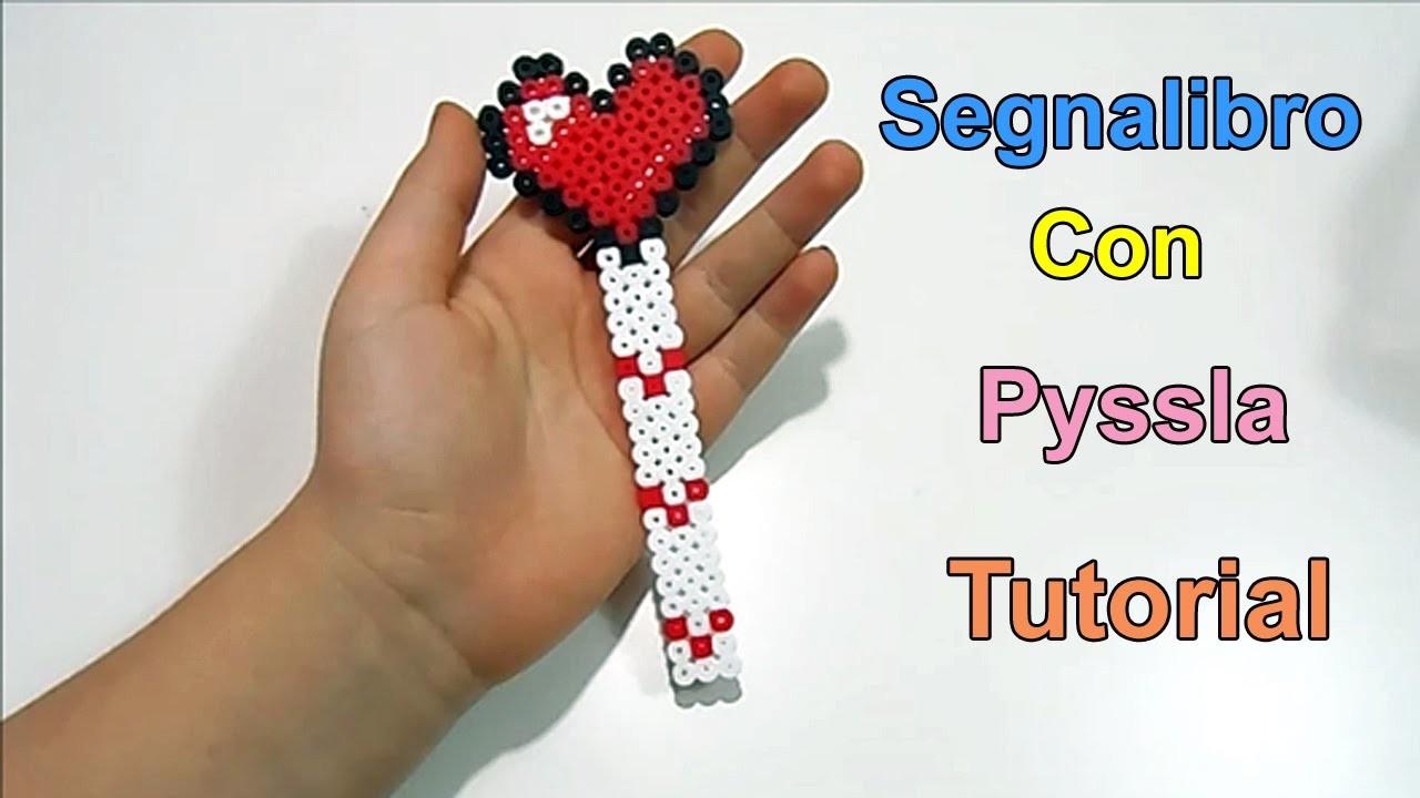 "Tutorial Segnalibro Con Pyssla ""Bookmark Hama Beads ""❤"