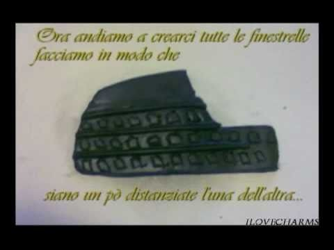 DIY:Tutorial Polymer clay. fimo Bracciale Colosseo