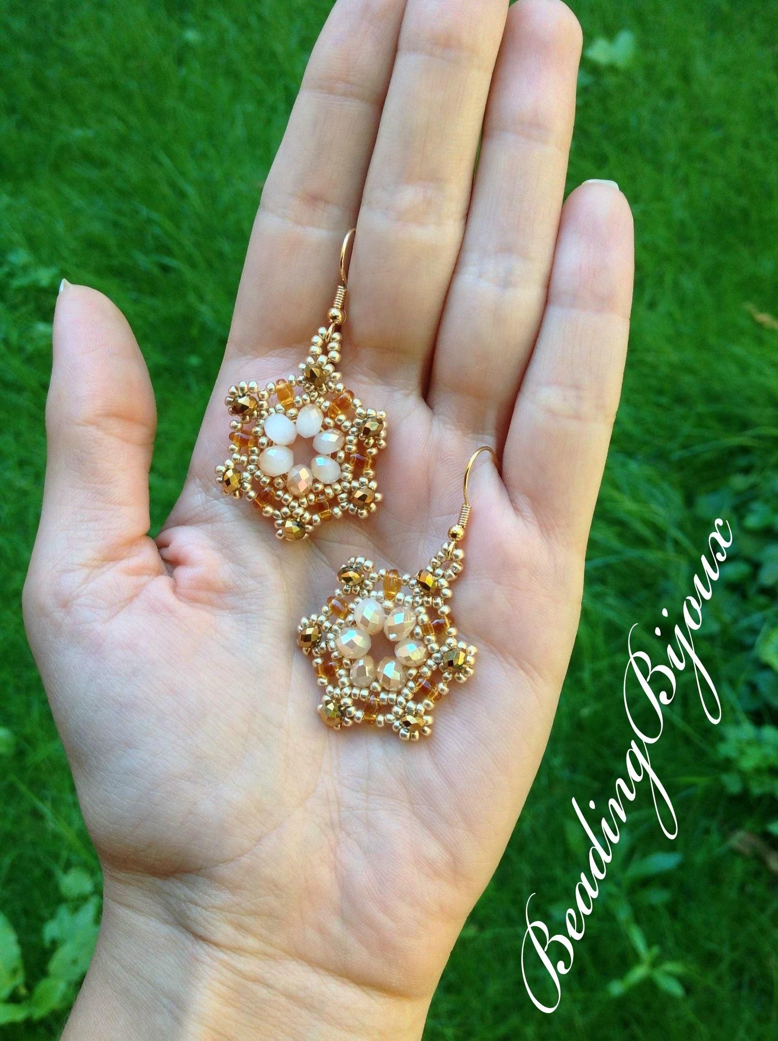TUTORIAL | Orecchino.Modulo Manuela | DIY bead Earrings