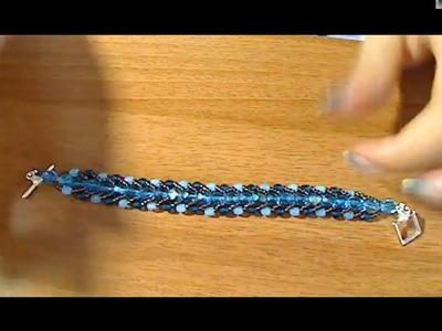 """Creazioni estate flat spiral stitch bracelet e anello palla ridotto """"hand made"""""""