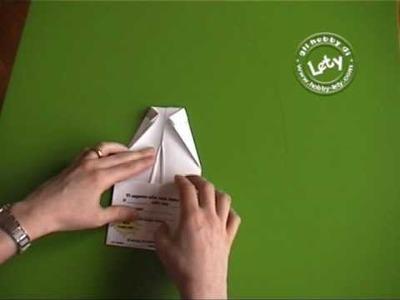 Biglietto camicia origami