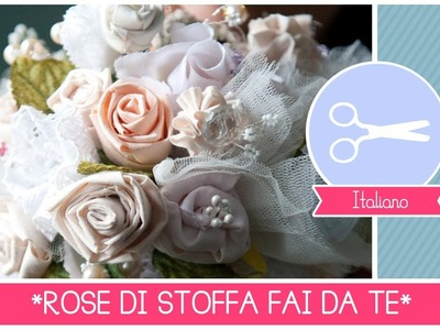 Bouquet da Sposa DIY: come fare rose di stoffa senza cucire (FACILE) ft. Arte Per Te