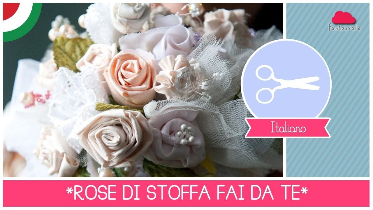 Bouquet da Sposa DIY: come fare rose di stoffa senza cucire (FACILE) ft. Arte Per Te