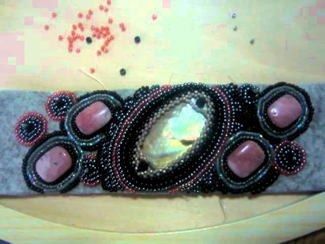 BRACCIALE pink and black