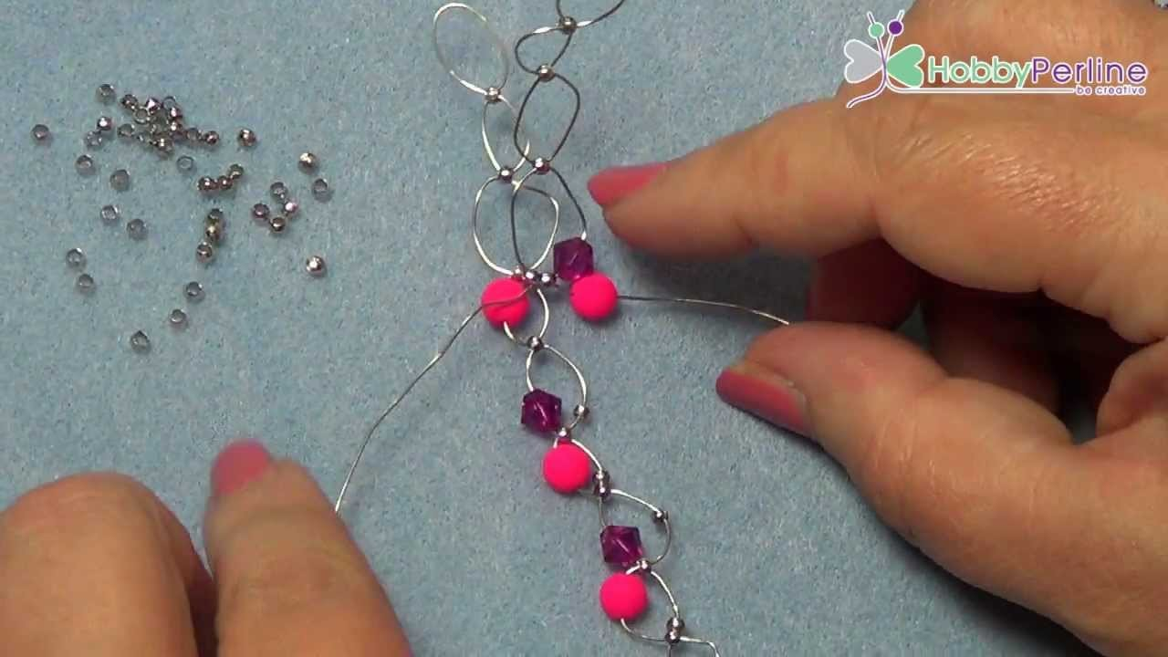 Bracciale Pink Wire |  Tutorial - HobbyPerline.com