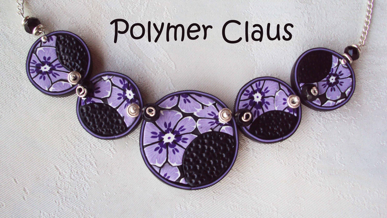 Collana dischetti fioriti (fimo tutorial polymer clay tutorial)