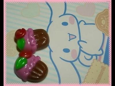 DIY Polymer clay: tutorial orecchini dolcetto