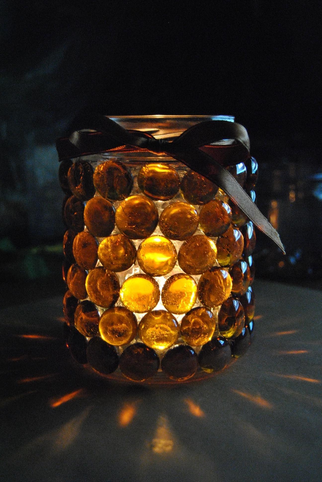 DIY winter caramel mason jar