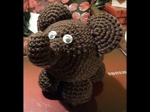 Elefante amigurumi - tutorial uncinetto crochet - Amigurumi Elephant - crochet