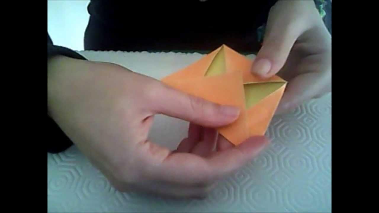 Origami #10 zucca di halloween