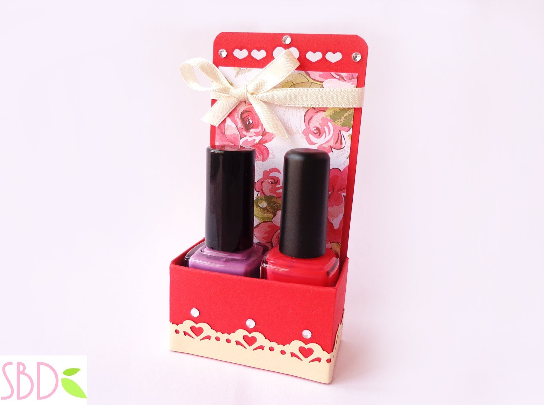 Scrap: Scatola Regalo porta smalti - Nail polish Gift Box