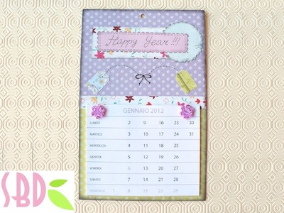 Scrapbooking tutorial: Calendario sweet 2012 - 2012 DIY Calendar