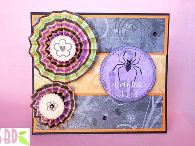 Tecnica scrap: Card Halloween con Rosette - Rosette Card