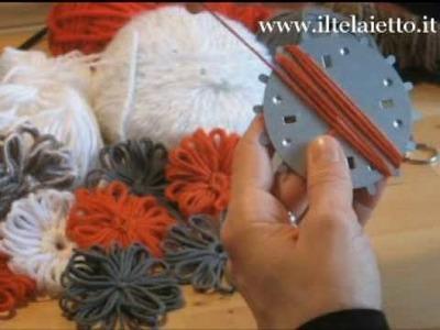 Telaietto in metallo tondo - preparazione della base