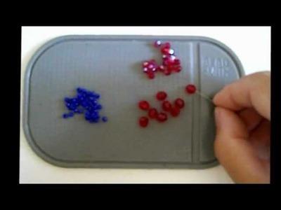 Tessitura  ciondolo blue&red