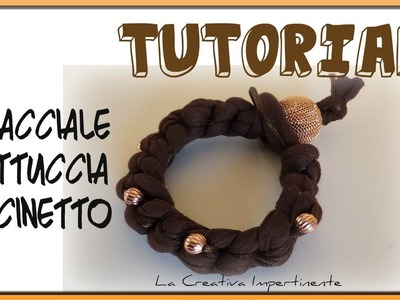 Tutorial Bracciale Uncinetto con fettuccia e coda di topo | DIY How to do crochet bracelet