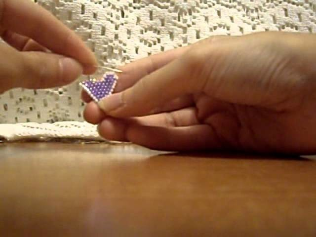 Tutorial Cuore Brick Stitch (3 Ultima Parte)
