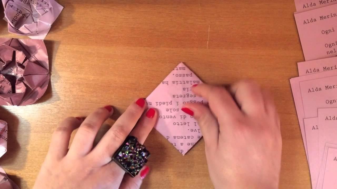 Tutorial Origami Fiore di Loto - Progetto MilanoFree DIY