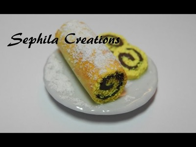 Tutorial: Rotolo alla nutella in pasta polimerica (polymer clay cake roll) [sub-eng]