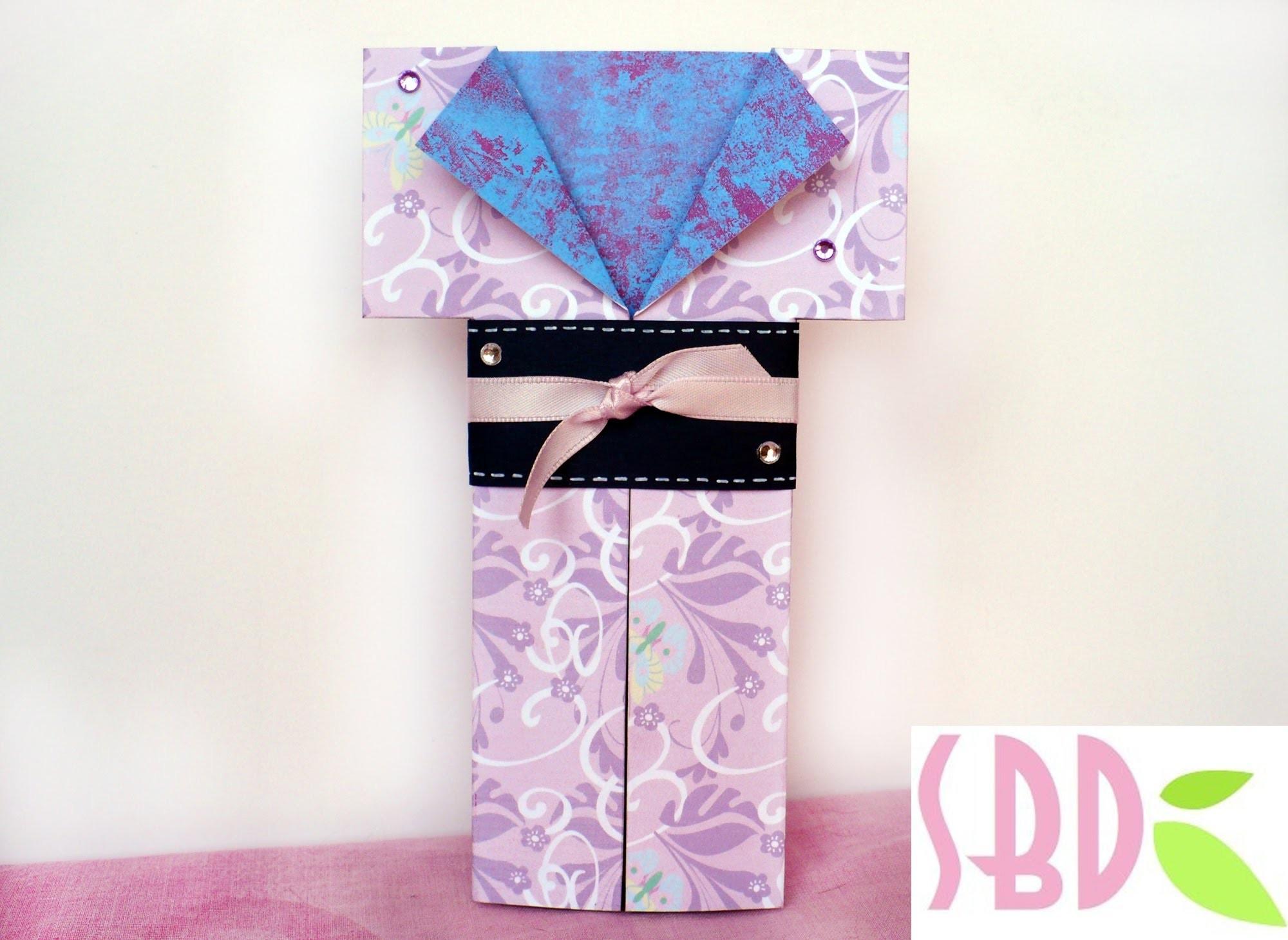 Tutorial Scrapbooking: Card Kimono