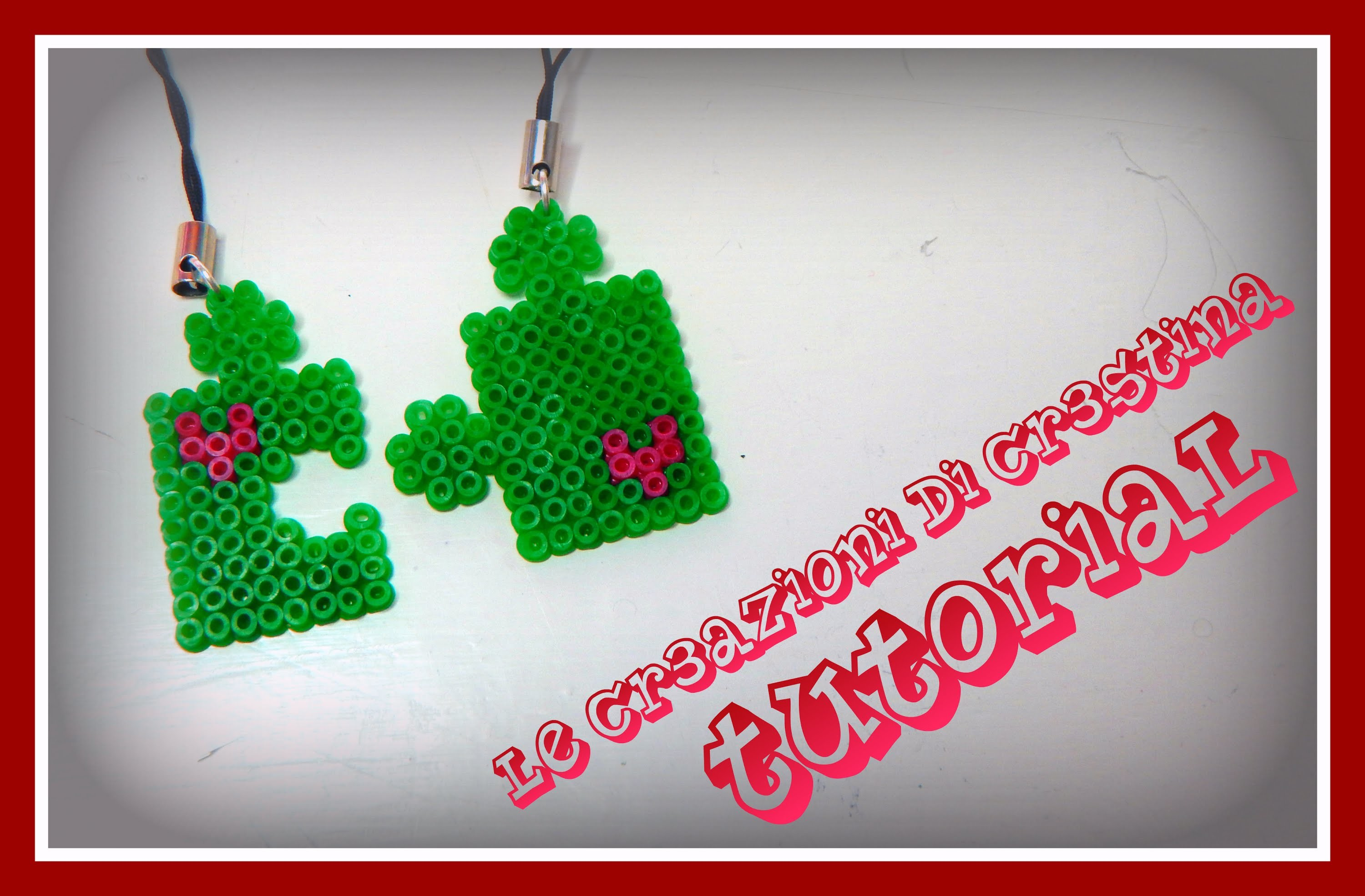 Tutorial Tessere Puzzle con Hama beads mini - San Valentino Charm - www.perlinedastirare.it