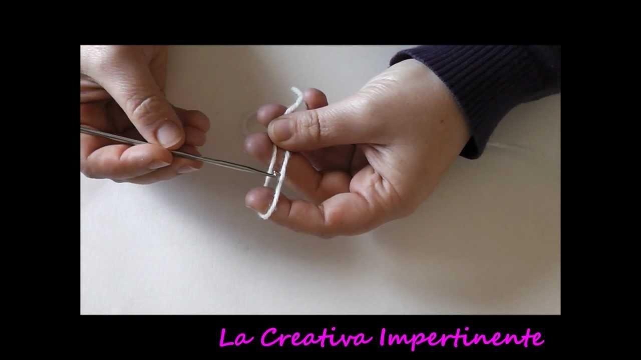 Tutorial Uncinetto: catenella, maglia bassa e maglia alta | DIY Crochet beginner chain single double