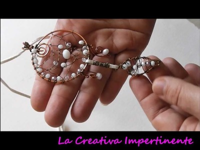 Nuove creazioni wire, 3d raw - dreamcatcher, beads heart, wire heart pendant