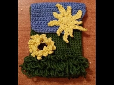 "Portacellulare all'uncinetto ""Girasole"" - Tutorial Crochet"