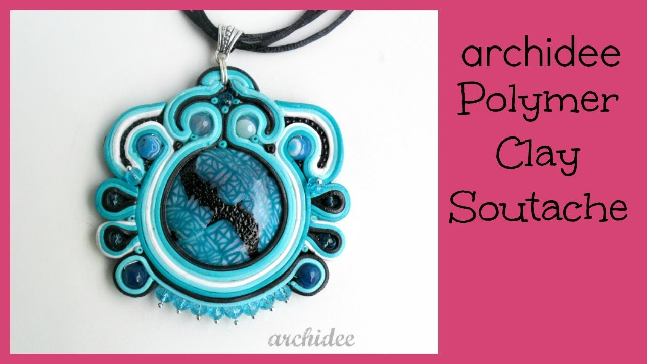 Polymer Clay Soutache Tutorial | Extruder Technique Pendant