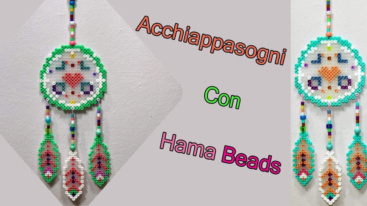 Acchiappasogni con hama beads perler bead dreamcatcher for Dreamcatcher beads meaning