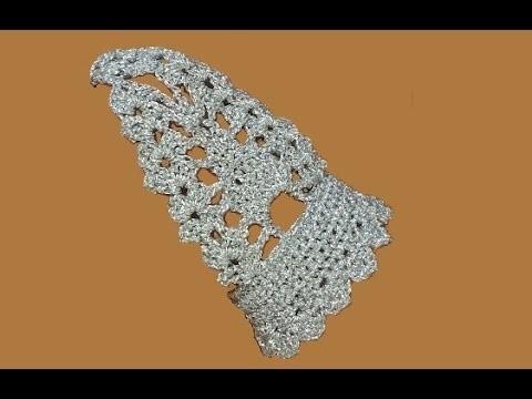 """Bracciale """"baciamano all'uncinetto - tutorial bracciale all'uncinetto - pulsera crochet bracelet"""