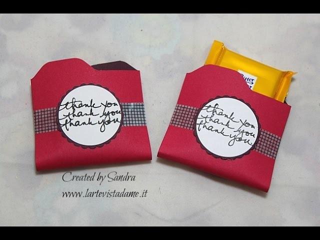 Chocolate Holder con Envelope punch board-Candy holder DIY-Scrapbooking tutorial-Scatoline fai da te