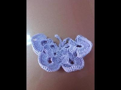Come fare una farfalla ad uncinetto -  how to make a butterfly crochet