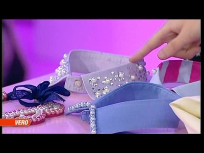 DIY Colletto glamour, VERO TV - A moda mia, Claudia Carducci