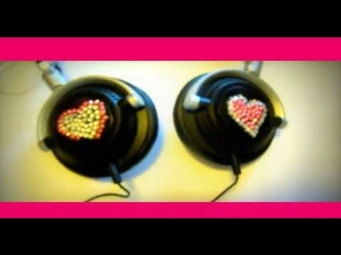 DIY:Decorare delle cuffie.  How to make a decorate the headphones